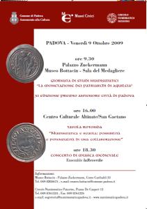 locandina giornata 9 ottobre 2009